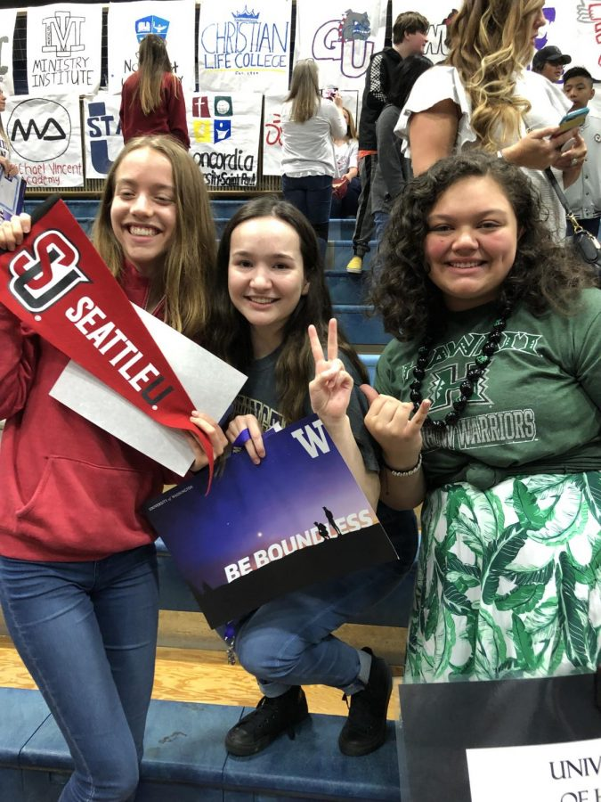 Nicole Beauvais, Lauren Hopkins, and Jasmine Teofilo