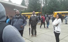 RHS Principal Smith (left), patrolling the school campus