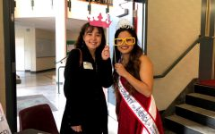 Alexis Galovin (left) and Miss Pierce County 2019 Beckie Takashima at Emergency Food Network.